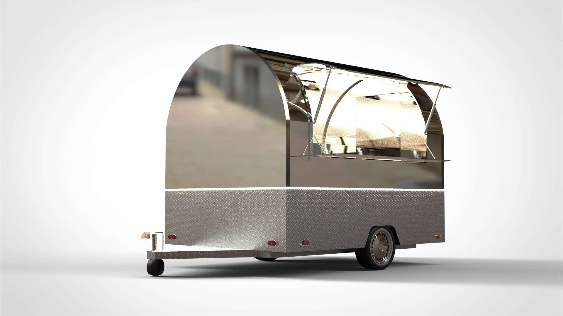 Full Alumunim Round Food Trailers Hot selling from China manufacturer of food trailers