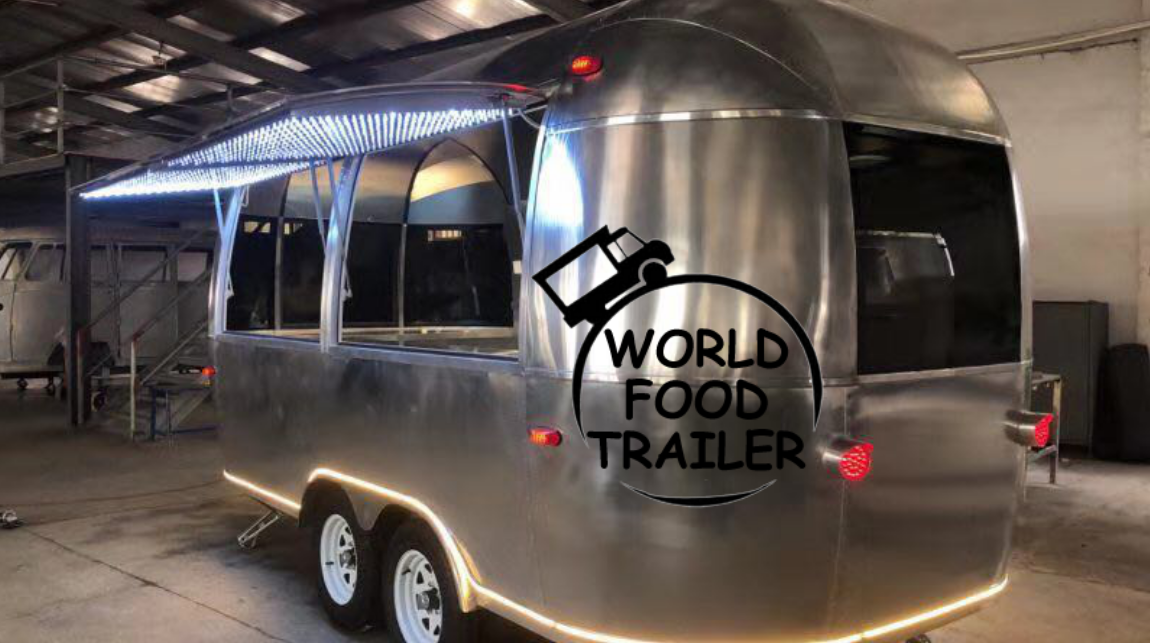 AirStream Food Trailer, Mobile Kitchen Box, Mobile Aluminum Trailers