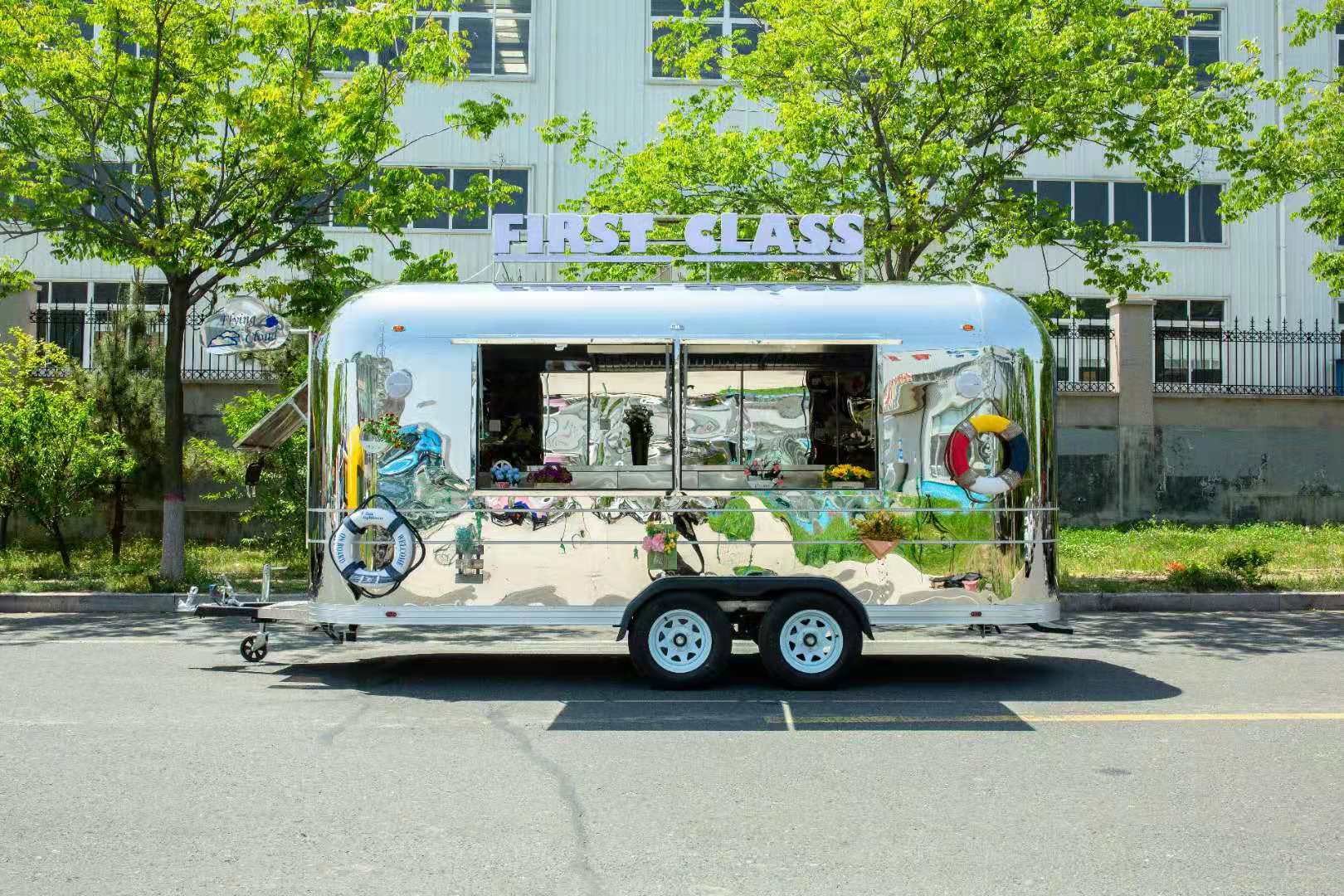 BBQ Airstream Food Trailer